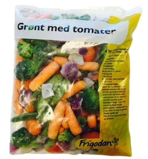 GRØNT MED TOMATER 450g